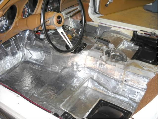 Corvette Insulation Floor Pan Hushmat 68 82 ( #E20629 ...