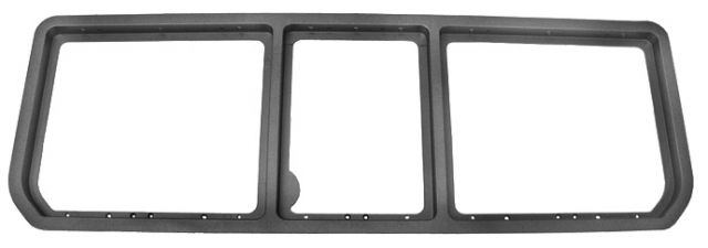 corvette frame main rear storage compartment door black 3