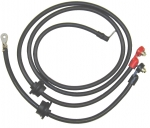 3048 CABLE SET-BATTERY-SIDE POST-0 GAUGE WIRE WITH GROMMETS-PAIR-75-80