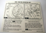 13024 INSTRUCTION CARD-RALLY WHEEL TRIM RING-GLOVE BOX OWNERS MANUAL-67-72