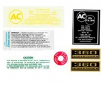 13072 DECAL KIT-ENGINE COMPARTMENT-360 H.P. AND FUEL INJECTION-62