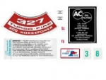 13080 DECAL KIT-ENGINE COMPARTMENT-300 HP-67