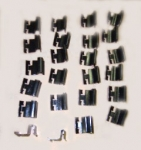21029 CLIP SET-UPPER AND LOWER WINDSHIELD MOLDING-COUPE-24 PIECES-63