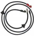 3045 CABLE SET-BATTERY-SIDE POST-2 GAUGE WIRE WITH GROMMETS-PAIR-70