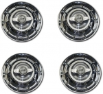 72580 HUBCAP SET-WITH SPINNERS AND HARDWARE-4 PIECES-56-58