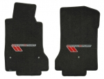 E15047 MAT SET-FLOOR-LLOYD'S ULTIMAT-APPLIQUE GRAND SPORT LOGO-RED/BLACK ON SILVER-COLORS-PR-10-E13