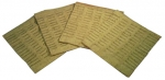 E10058 BURLAP-SEAT FOAM-ASSEMBLED-4 PIECES-53-67