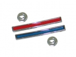 E10318 BAR-RED AND BLUE WITH NUTS-DASH INSERT-PAIR-60-62