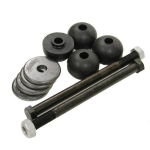 MOUNT KIT - REAR SPRING - RUBBER - FACTORY LENGTH BOLTS - 12 PIECES - 84 - 96