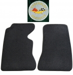 MAT SET - FLOOR - 80 - 20 LOOP - WITH EMBROIDERED CORVETTE CIRCLE LOGO - COLORS - PAIR - 59 - 60