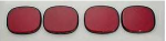 E15433 LENS-TAILLIGHT-BUBBLE-RED-4 PIECE-91-96