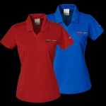 E15485 SHIRT-POLO-LADIES-GRAND SPORT-EMBROIDERED EMBLEM-100% POLYESTER-BLUE SAPPHIRE