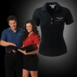 E15490 SHIRT-POLO-LADIES-C6-EMBROIDERED EMBLEM-100% POLYESTER-RED