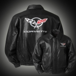 E15543 JACKET-LEATHER-BLACK-C5 BOMBER