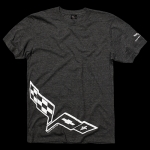 E15582 SHIRT-C6 CORVETTE FLAG-BLENDED COTTON-GREY