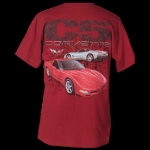 E15585 SHIRT-C5 CORVETTES WITH SPLATTER-RED
