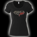 E15650 SHIRT-LADIES-60TH ANNIVERSARY RHINESTONE-100% COTTON-BLACK