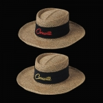 E15685 HAT-STRAW-EARLY MODEL-EMBROIDERED CORVETTE EMBLEM-ONE SIZE-2 COLORS