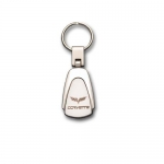 E15706 KEY FOB-CORVETTE-BLACK CHROME-C6
