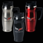 E15761 MUG-C6 STAINLESS MUG WITH HANDLE-BLACK, RED OR STAINLESS