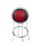 E15767 STOOL-CORVETTE CROSSFLAGS COUNTER STOOL-3 HEIGHTS