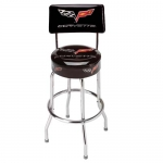 E15776 STOOL-WITH BACK-C6 CORVETTE COUNTER STOOL