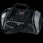E15875 BAG-STINGRAY ENDURANCE DUFFEL-10.5H X 20W X 9.25D. COLOR: BLACK-SILVER METALIC.