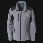 E15880 JACKET-LADIES-C7 SOFTSHELL-GREY-BLACK