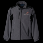 E15881 JACKET-MENS-C7 SOFTSHELL-GREY-BLACK