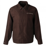 E15884 JACKET-MENS-ROOSEVELT STINGRAY-EMBROIDERED-100% POLYESTER MICRO SUEDE-BROWN