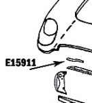 E15911 BONDING STRIP-RADIATOR SUPPORT-UPPER RIGHT-53-57