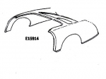 E15914 BODY-REAR UPPER-53-55