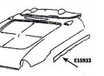 E15933 BONDING STRIP-LEFT SIDE FENDER-PRESS MOLDED-WHITE-56-57