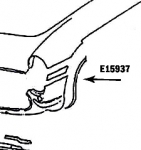 E15937 BONDING STRIP-FRONT WHEEL OPENING-PRESS MOLDED-WHITE-LEFT FRONT-56-57