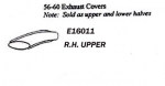 E16011 COVER-TAILPIPE-UPPER-PRESS MOLDED-WHITE-RIGHT-56-60