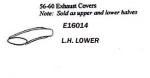 E16014 COVER-TAILPIPE-LOWER-PRESS MOLDED-WHITE-LEFT-56-60
