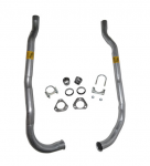 E1603 PIPE SET-EXHAUST-ALUMINIZED-2 INCH-SMALL BLOCK-64-67
