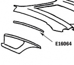 E16064 BONDING STRIP-FENDER-PRESS MOLDED-WHITE-RIGHT HAND-58-61