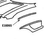 E16065 BONDING STRIP-FENDER-PRESS MOLDED-WHITE-LEFT HAND-58-61