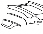 E16066 BONDING STRIP-FRONT WHEEL OPENING-PRESS MOLDED-WHITE-RIGHT-58-61