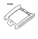 E16146 HOOD SURROUND-PRESS MOLDED-WHITE-63-64