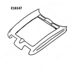 E16147 HOOD SURROUND-PRESS MOLDED-GRAY-63-64