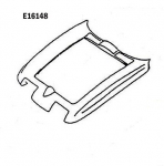 E16148 HOOD SURROUND-PRESS MOLDED-GRAY-65-66