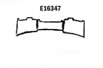 E16347 PANEL-REAR EXHAUST-PRESS MOLDED-GRAY-SIDE EXHAUST-65