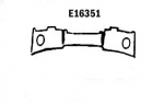 E16351 PANEL-REAR EXHAUST-PRESS MOLDED-GRAY-63