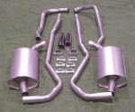 E1661A EXHAUST SYSTEM-ALUMINIZED-2 INCH-SMALL BLOCK-AUTOMATIC-68-72