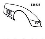 E16738 FENDER-FRONT-HAND LAYUP-RIGHT HAND-68-69