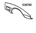 E16742 FENDER-FRONT-HAND LAYUP-RIGHT HAND-73-79