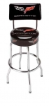 E17220 STOOL-C6 CORVETTE STINGRAY COUNTER STOOL WITH BACK-3 HEIGHTS