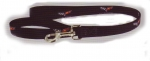 E17258 DOG LEASH-BLACK-CORVETTE-C6